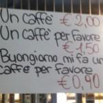 Koffie in Italie