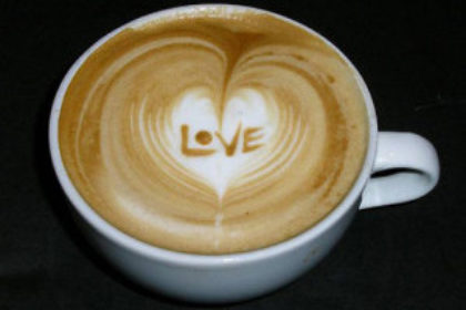 Valentijns hartje in je koffie